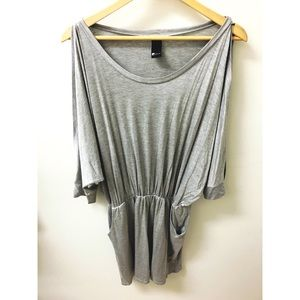NEW Swell Grey 3/4 Open Sleeve Pocket Dress Large